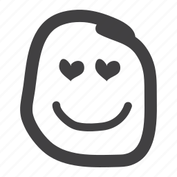emoticon, happy, heart, love, lover, smiley icon