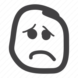 disappointed, emoticon, sad, smiley icon