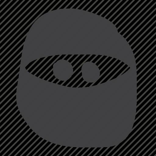 bandit, covered, emoticon, ninja, smiley icon