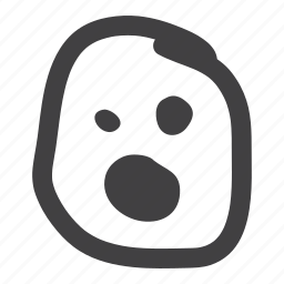 emoticon, smiley, tired icon
