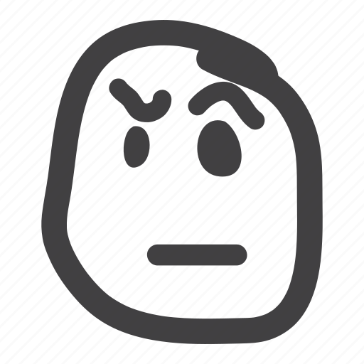 emoticon, eyebrows, smiley icon