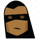 face, funny, funny man, man, mask, person, zorro icon
