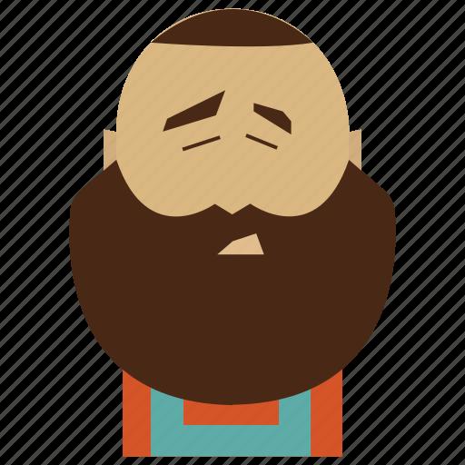 beard, beard man, face, funny, funny man, man icon