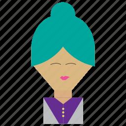 funny, funny woman, person, secretary, woman icon