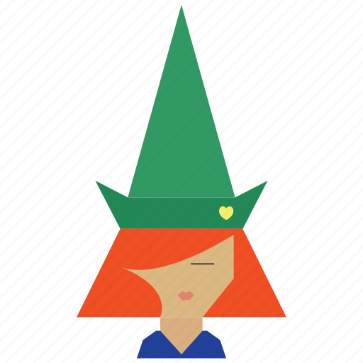 face, fairy, funny, funny girl, people, person, witch icon