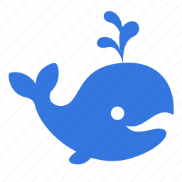 animal, fountain, ocean, sea, whale icon