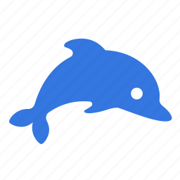 animal, dolphin, friend, happy, mammal, ocean, sea icon