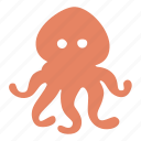 devilfish, food, ocean, octopus, sea, squid icon
