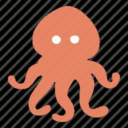 devilfish, food, ocean, octopus, sea, squid icon