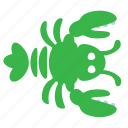 crayfish, lobster icon