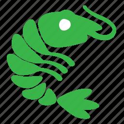 animal, food, ocean, sea, seafood, shrimp icon