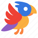 animal, bird, parrot, pet icon