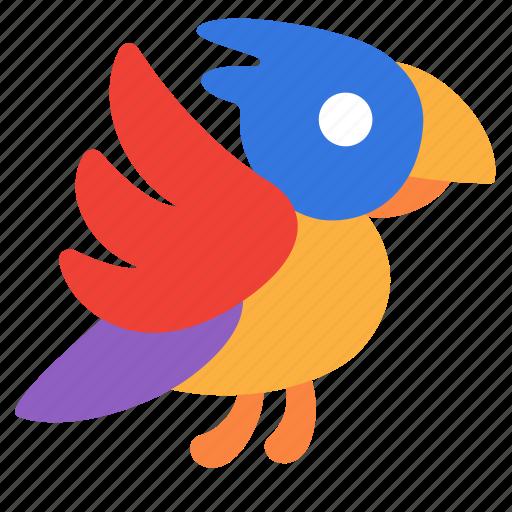 animal, bird, parrot, pet icon