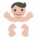 baby, boy, child, happy, human, newborn icon