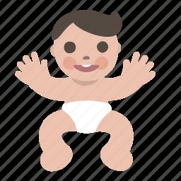 baby, boy, child, happy, human, newborn icon