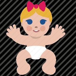 baby, child, girl, happy, human, newborn icon