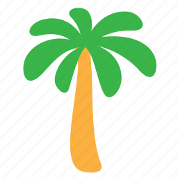 beach, ecology, environment, nature, palm, tree icon