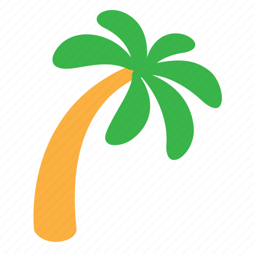 beach, bent, ecology, environment, nature, palm, tree icon