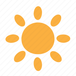 day, happy, sun, sunny, sunshine, weather icon