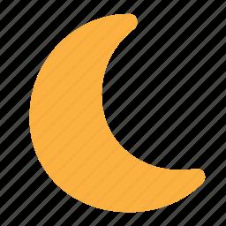 crescent, moon, nature, night, sleep, weather icon