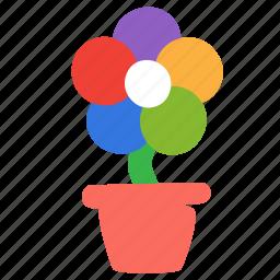 ecology, environment, flower, nature, plant, pot icon
