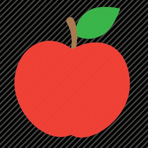 apple, food, fruit, nature, sweet, vegetarian icon