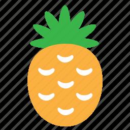 food, fruit, pineapple, plant, sweet icon