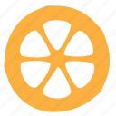 citrus, food, lemon, segment, slice icon