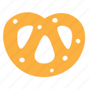 bagel, baking, food, krendel, pretzel icon
