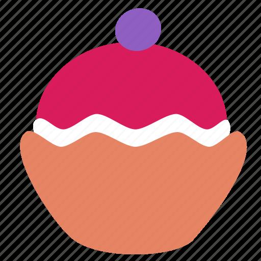 brownie, cupcake, dessert icon