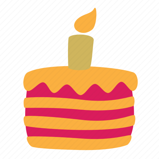 cake, candle, food icon