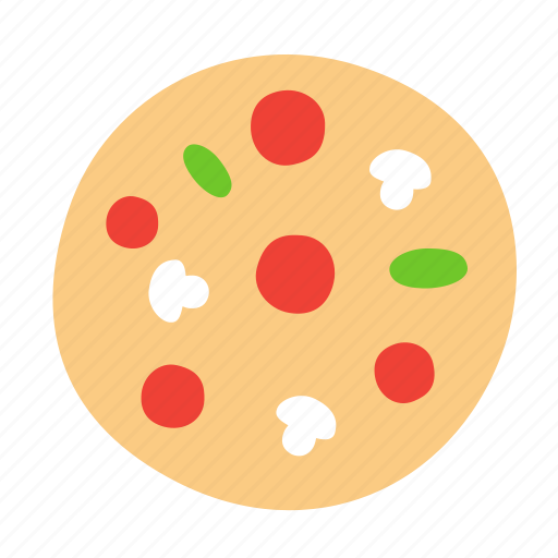 dough, food, mushrooms, pizza, sausage icon
