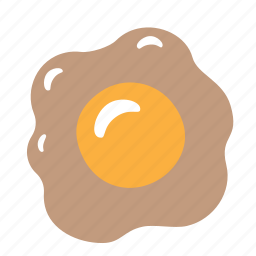 chicken, egg, food, omelette, scrambled icon