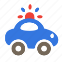 car, flasher, mechanic, police, transport, vehicle icon