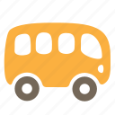 autobus, car, passenger, public, transport, vehicle icon