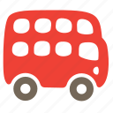 autobus, car, decker, double, passenger, public, transport icon