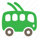 bus, car, passenger, public, trolley, vehicle icon