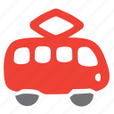 car, passenger, public, tramway, vehicle icon