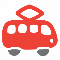 car, passenger, public, tramway, vehicle icon