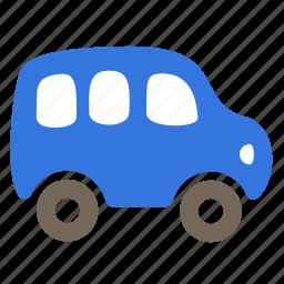 autobus, car, minibus, passenger, public, van icon