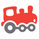 engine, locomotive, passenger, railroad, train, vehicle icon