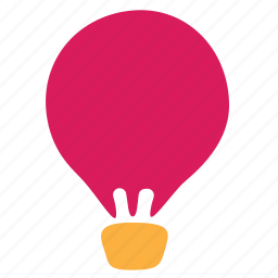air, baloon, hot, transport, travel, trip icon
