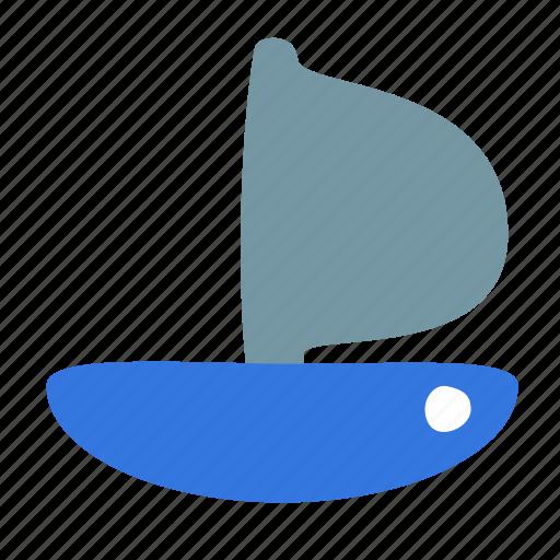 boat, sailfish, sailing, ship, transport icon