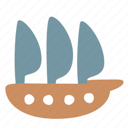 boat, frigate, sailfish, sailing, ship, transport icon