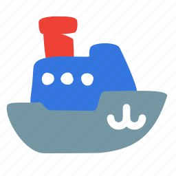 boat, fishing, ship, steamboat, steamship, transport icon