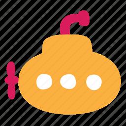 abyssal, bathyscaphe, deep, sea, submarine icon