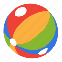 ball, childhood, game, play, rainbow, toy icon