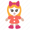 doll, girl, toy icon