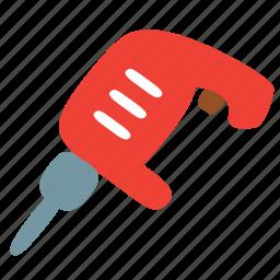 construction, drill, equipment, perforator, puncher, repair, tool icon