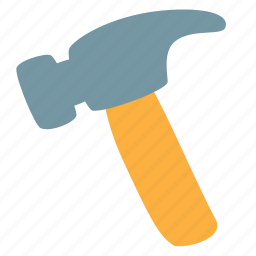 construction, equipment, hammer, nail, tool icon